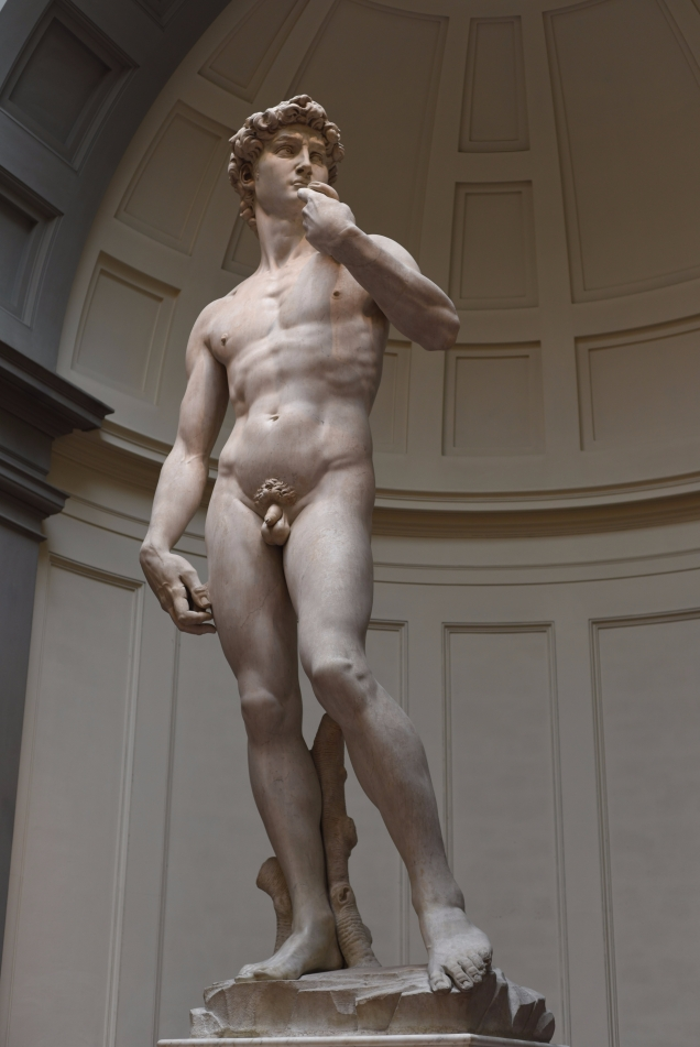 Michelangelo's 'David'. 1501-1504, Galleria dell'Accademia Florence, Italy.