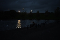 Girl in the Park at Night.