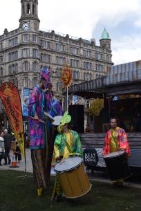 The drumming men.